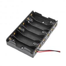 6x1.5V Support en plastique pour 6 piles AA
