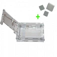Boitier transparent pour Raspberry PI avec radiateur