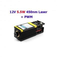 """""""12V 5.5W 450nm module laser bleu pour gravure avec PWM """""""