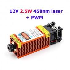 """""""12V 2.5W 450nm module laser bleu pour gravure avec PWM """""""