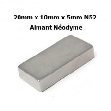 """20mm x 10mm x 5mm N52 Aimant Puissant Néodyme """